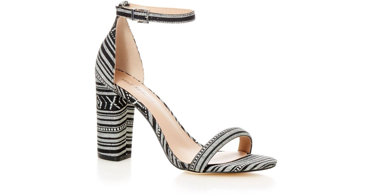 115c6b1fe20a Call It Spring Black  brelawien  High Block Heel Ankle Strap Sandals in  Black - Lyst