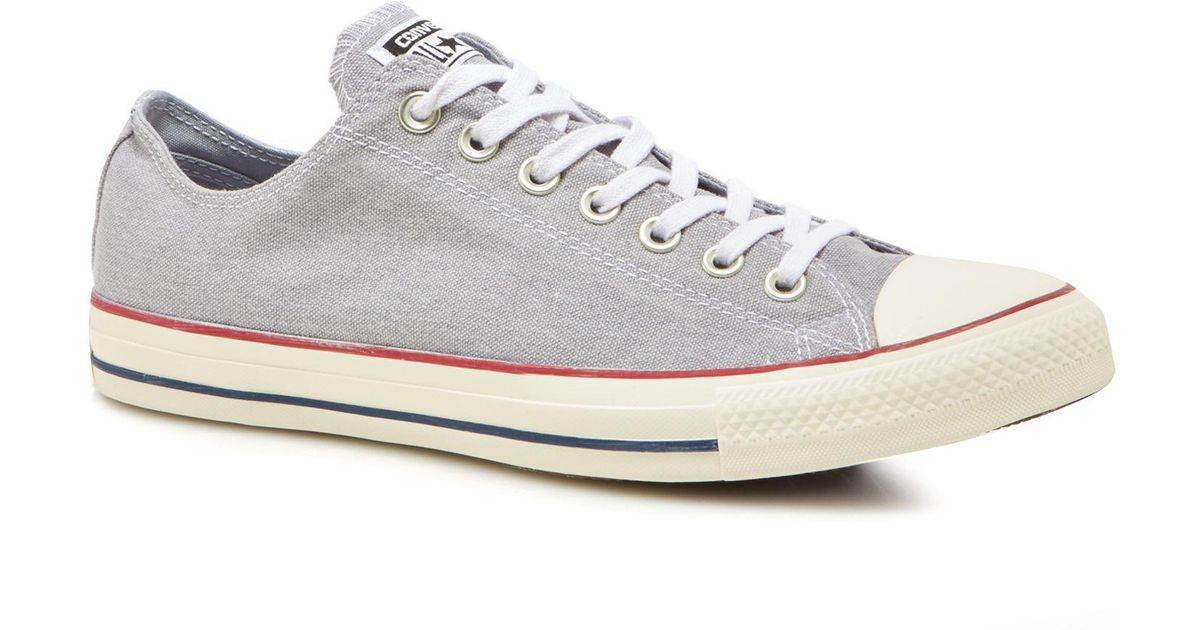 dfd40485043ef7 Converse Light Grey Canvas  chuck Taylor All Star  Trainers in Gray for Men  - Lyst