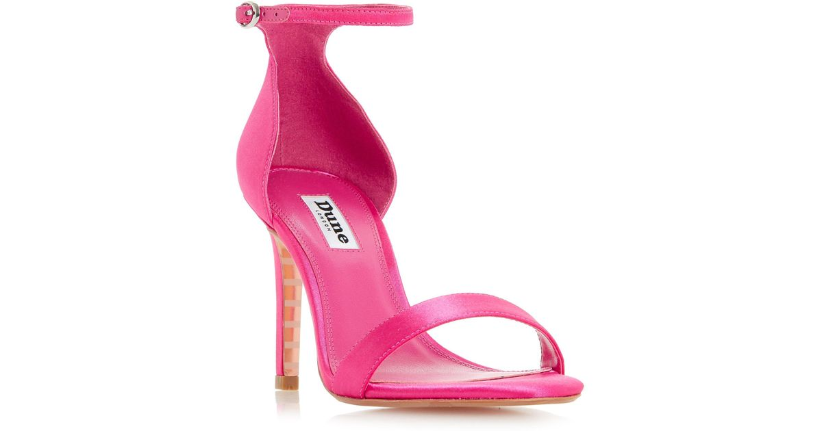 8621fb0706e Dune Bright Pink  maides  High Stiletto Heel Ankle Strap Sandals in Pink -  Lyst