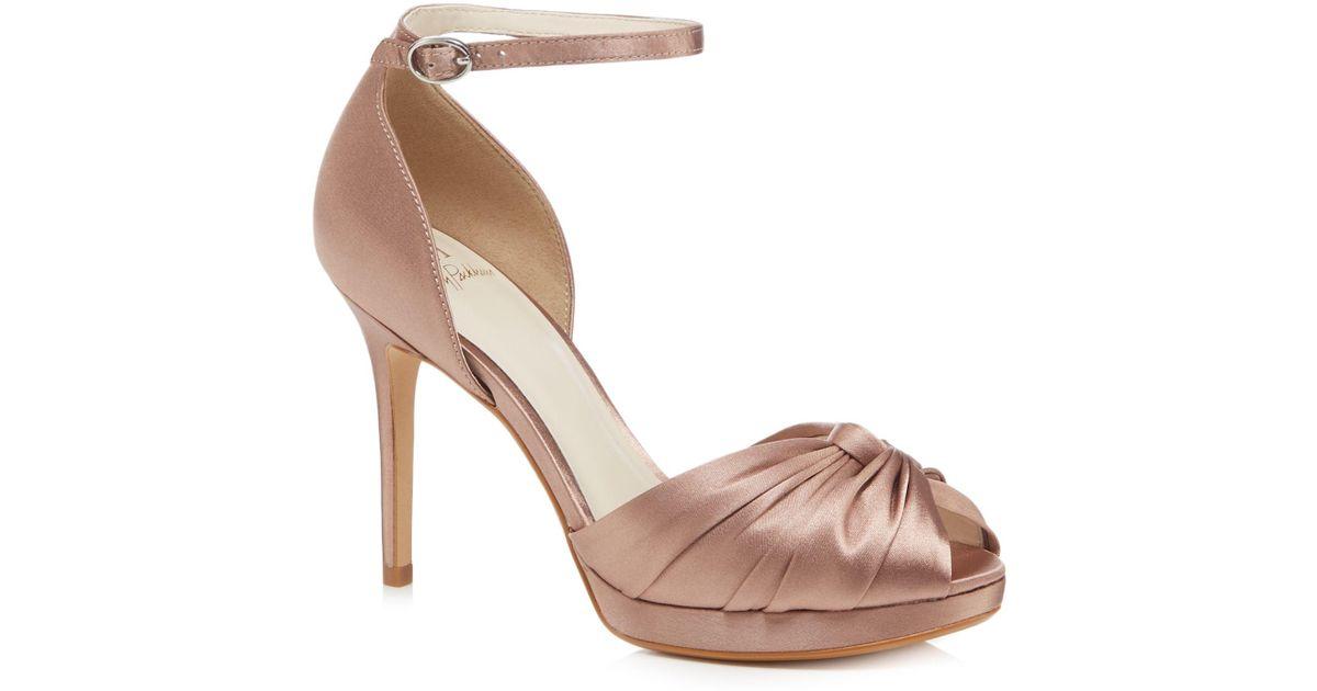 2b65223907c5 Jenny Packham Light Pink Satin  prima  High Stiletto Heel Ankle Strap  Sandals in Pink - Lyst