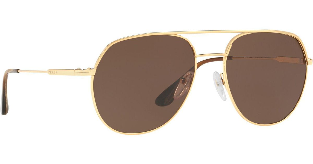 3245f6f9507 Prada Gold 0pr 55us Irregular Sunglasses in Metallic for Men - Lyst