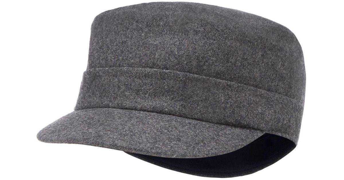 J By Jasper Conran Grey Train Driver Hat With Wool in Gray for Men - Lyst 68c81bd9b5bf