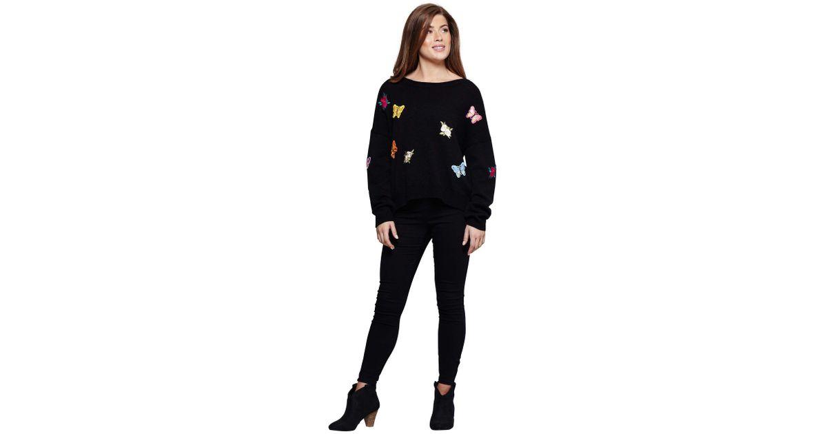 Mela Butterfly Embroidery Black in Jumper Lyst Black ZqZzEwx7rF