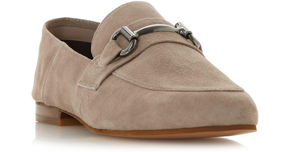 bd2faff4c96 Steve Madden Grey Suede  kerin   Loafers in Gray - Lyst