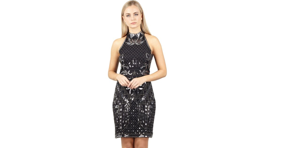 f636f635a8a Izabel London Black Sequin   Embellished Dress in Black - Lyst