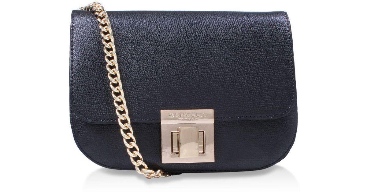Carvela Kurt Geiger Sara Clean Saddle Bag Across Body Bag in Black - Lyst 5108d12f5fd76