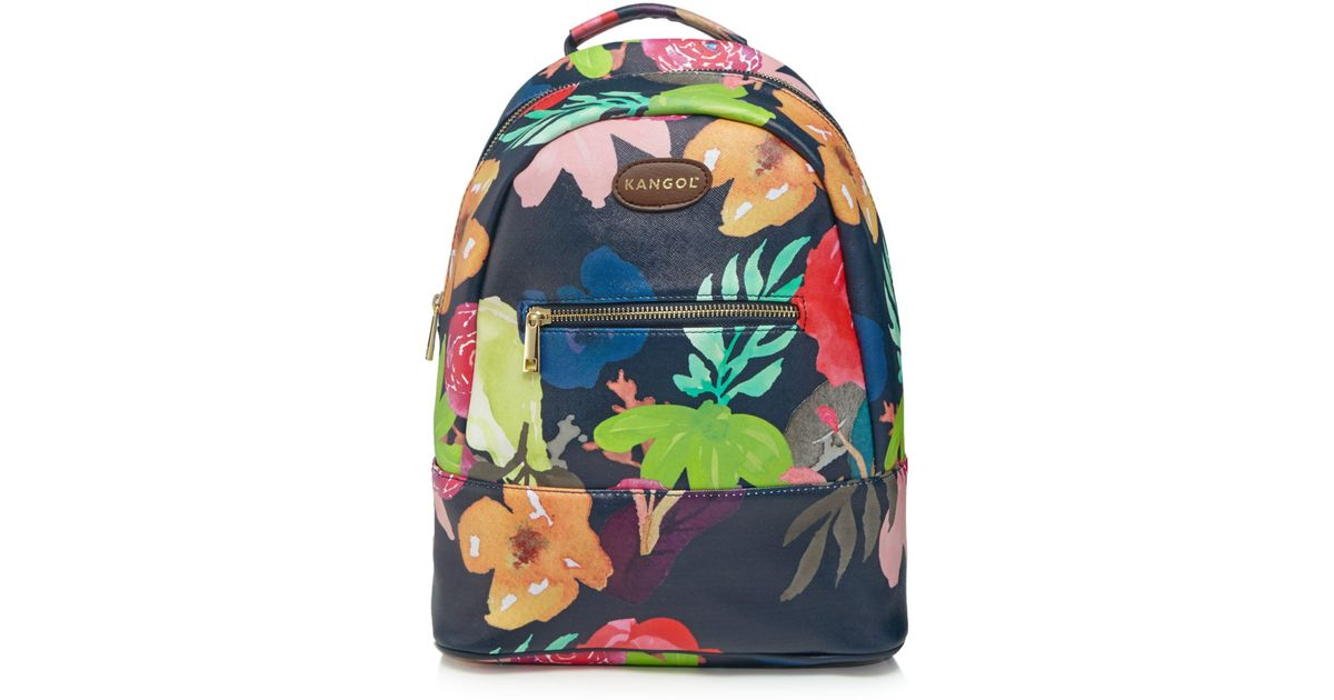 c975a0963b9 Kangol Multi-coloured Floral Print Backpack in Blue - Lyst