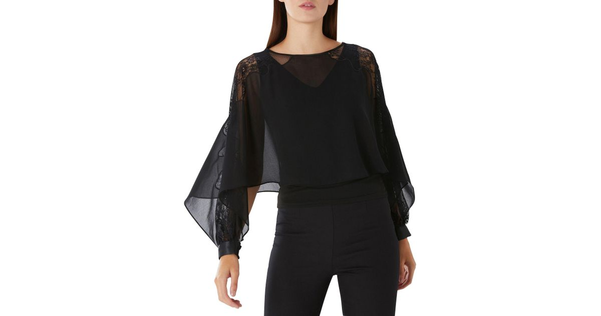 3bffd1178944f8 Coast Justine Lace Overlay Top in Black - Lyst