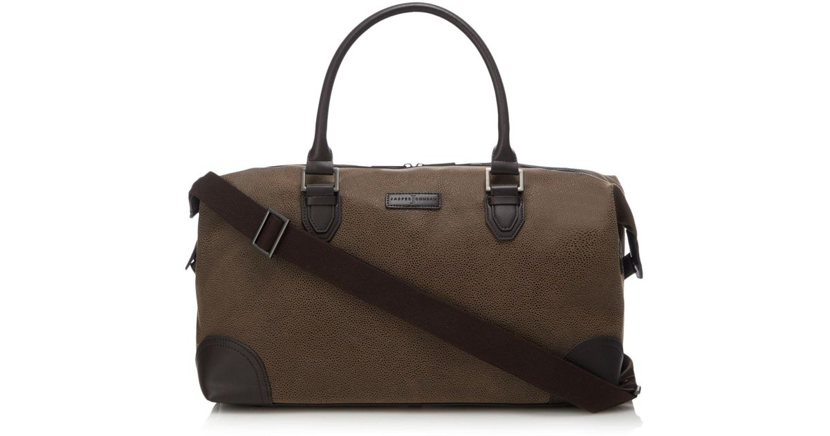 3dacfecf84 J By Jasper Conran Brown Textured Holdall Bag in Brown for Men - Lyst