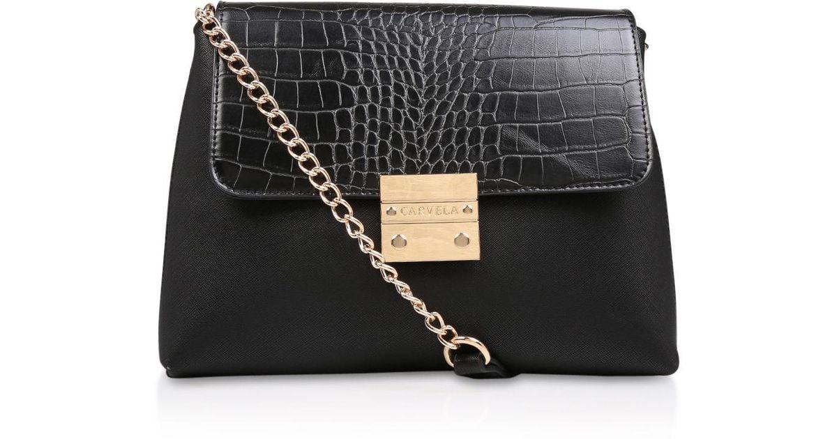 815aad394c7 Carvela Kurt Geiger Black  blink Chain Handle Bag  Shoulder Bag in Black -  Save 20% - Lyst