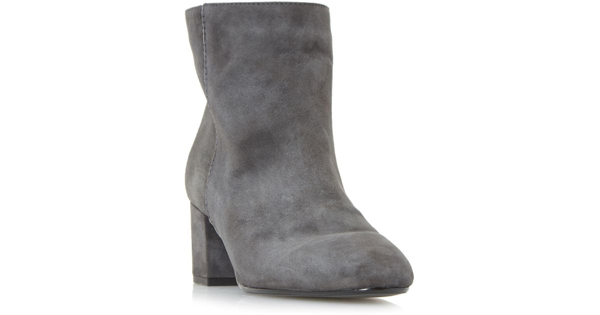 4d52122e28a Dune Grey  olyvea  Mid Block Heel Ankle Boots in Gray - Lyst