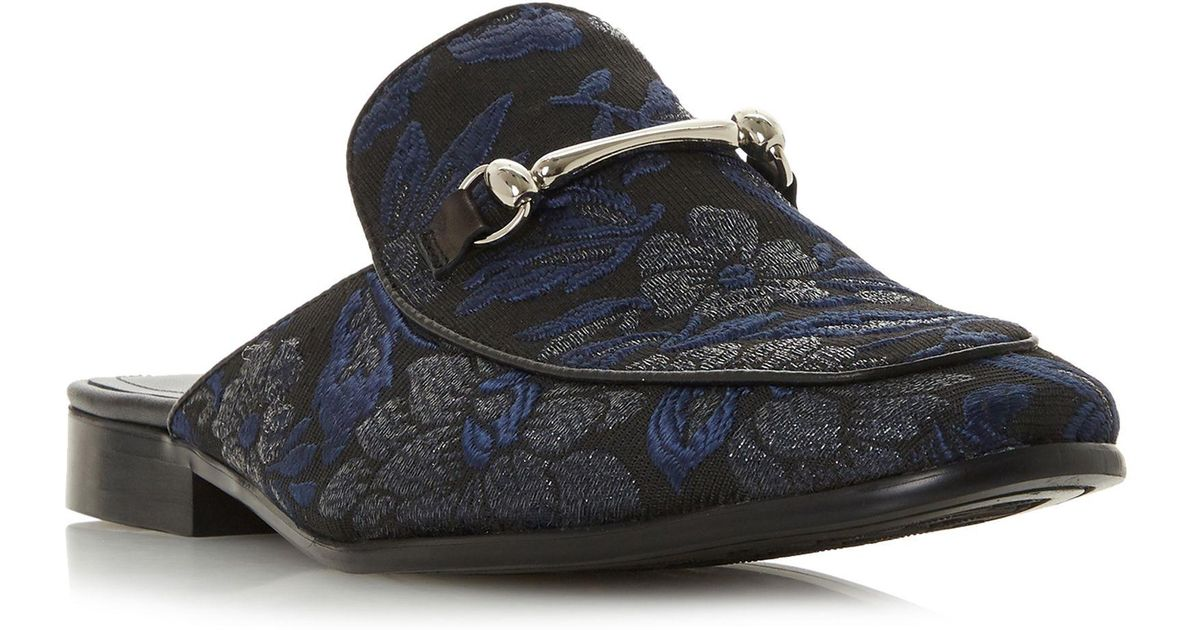 a6c0ebedd811a Dune Navy 'proseidon' Backless Snaffle Loafers in Blue for Men - Lyst