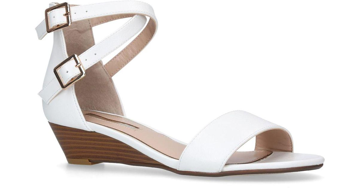 98d2ef9ff4546 Miss Kg White  ruth  Low Heel Wedge Sandals in White - Lyst
