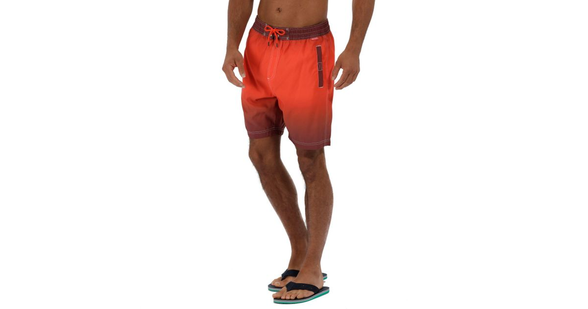 b3946f0787 Regatta Orange 'hadden' Swim Board Shorts in Orange for Men - Lyst
