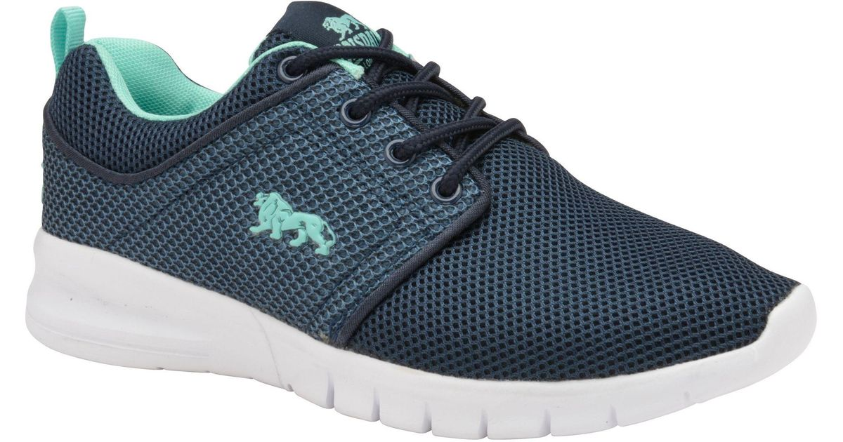 Navy and mint 'Propus' ladies trainers cheap marketable aeWSpo