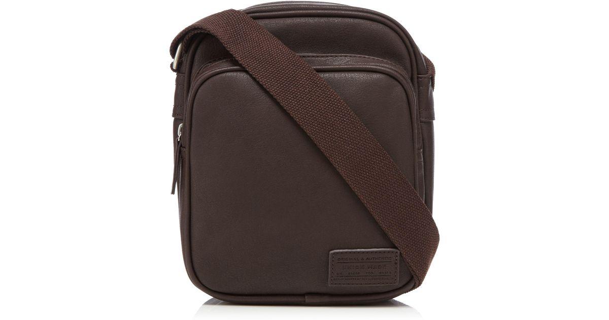88bffaf9e7aa Red Herring Brown Shoulder Bag in Brown for Men - Lyst