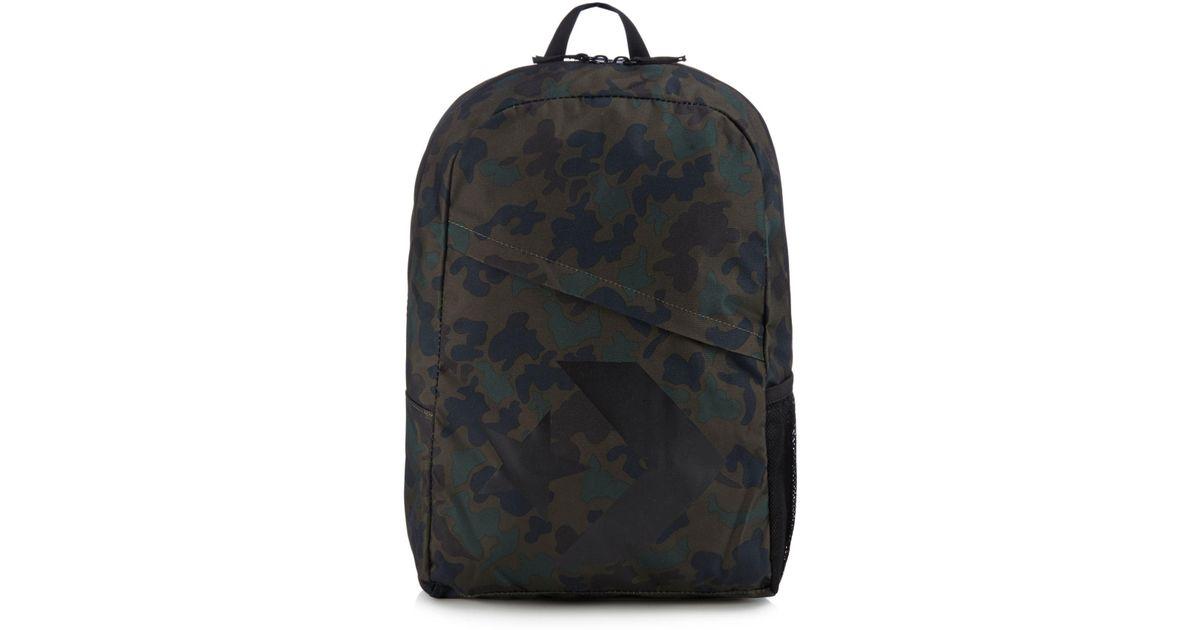 8cd3e4775d1b11 Converse Khaki Camo Print Logo Backpack in Black for Men - Lyst