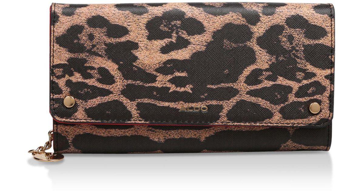 140ec6b892b ALDO Leopard  aalithien  Print Purse in Brown - Lyst