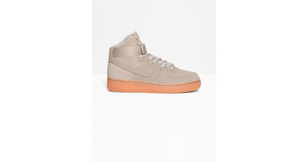 newest ac774 3befb ... official other stories nike air force 1 hi suede in natural lyst 5c767  609bf