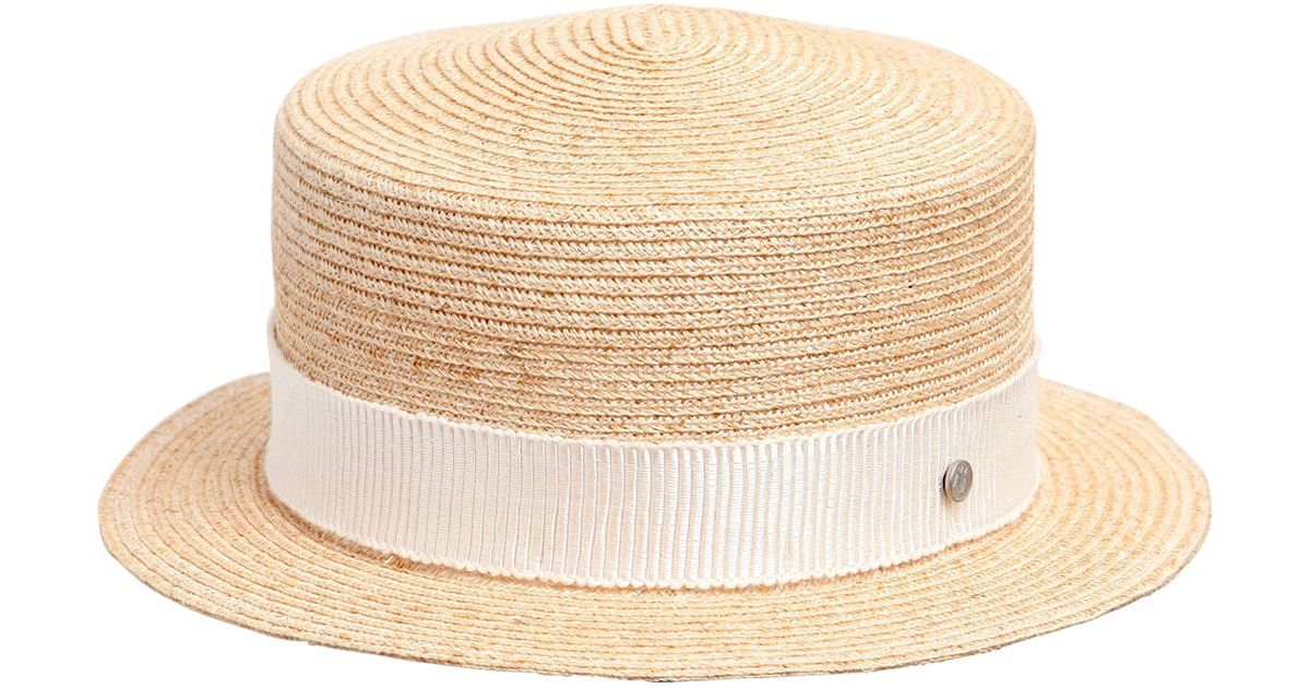 Lyst Maison Michel Auguste Canapa Straw Hat In Natural 6d5a7acaf651