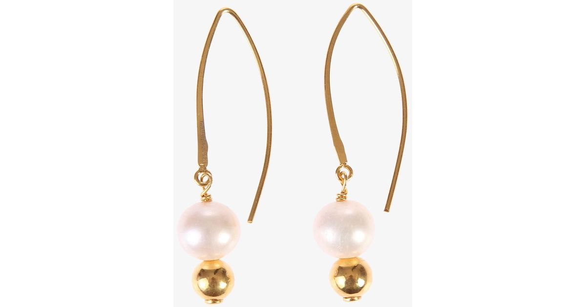 earrings pearl white freshwater metallic p pearls mfwe