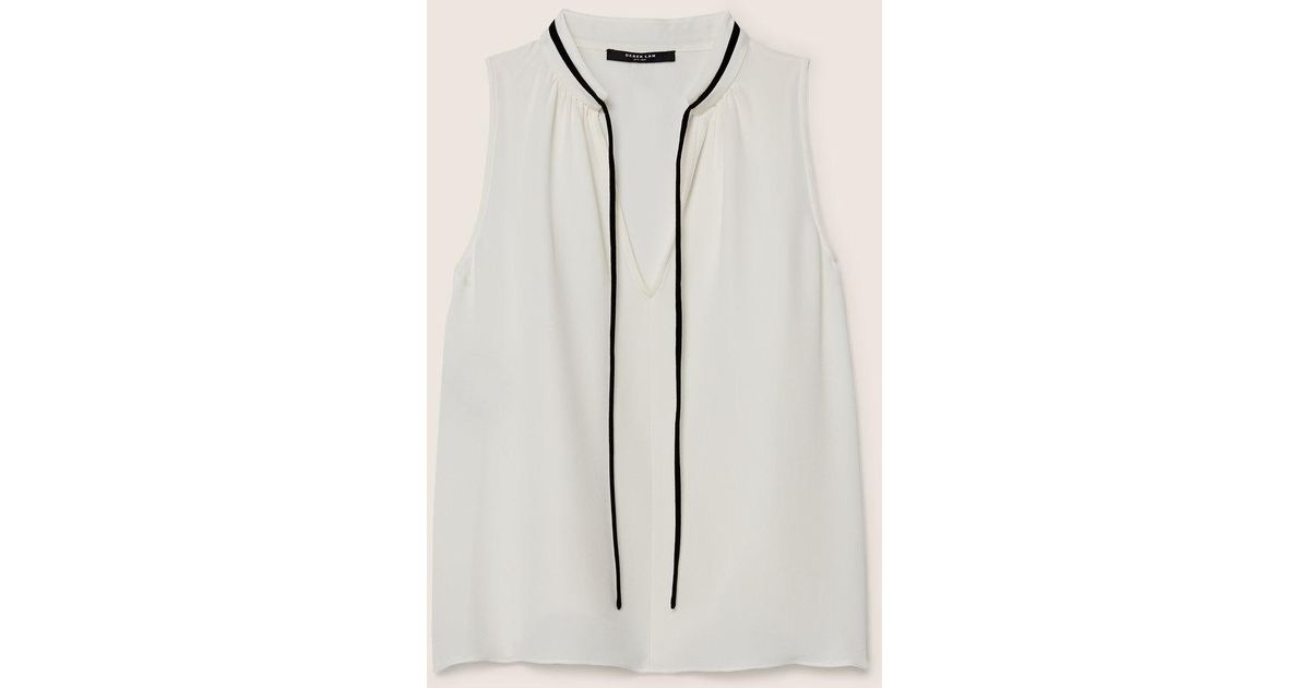 af0522a4c5e367 Lyst - Derek Lam Sonia Sleeveless Blouse in White