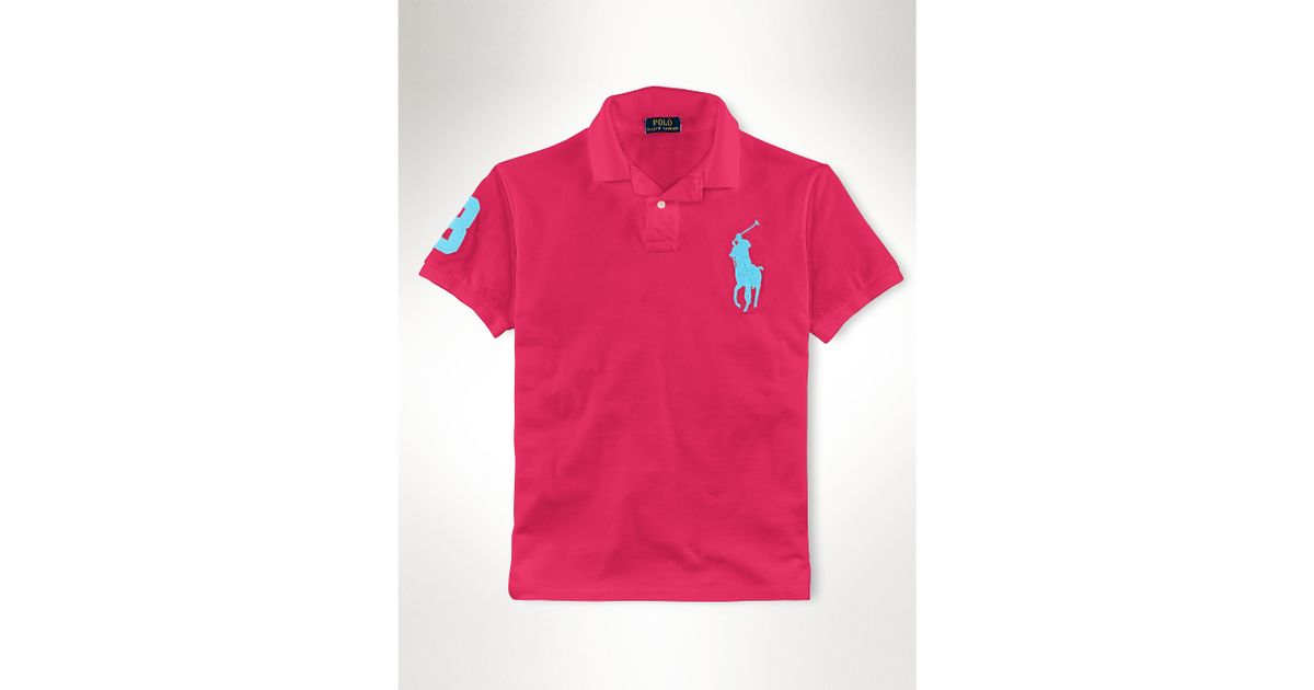 363aba15ca0 Polo Ralph Lauren Slim-fit Big Pony Polo Shirt in Red for Men - Lyst
