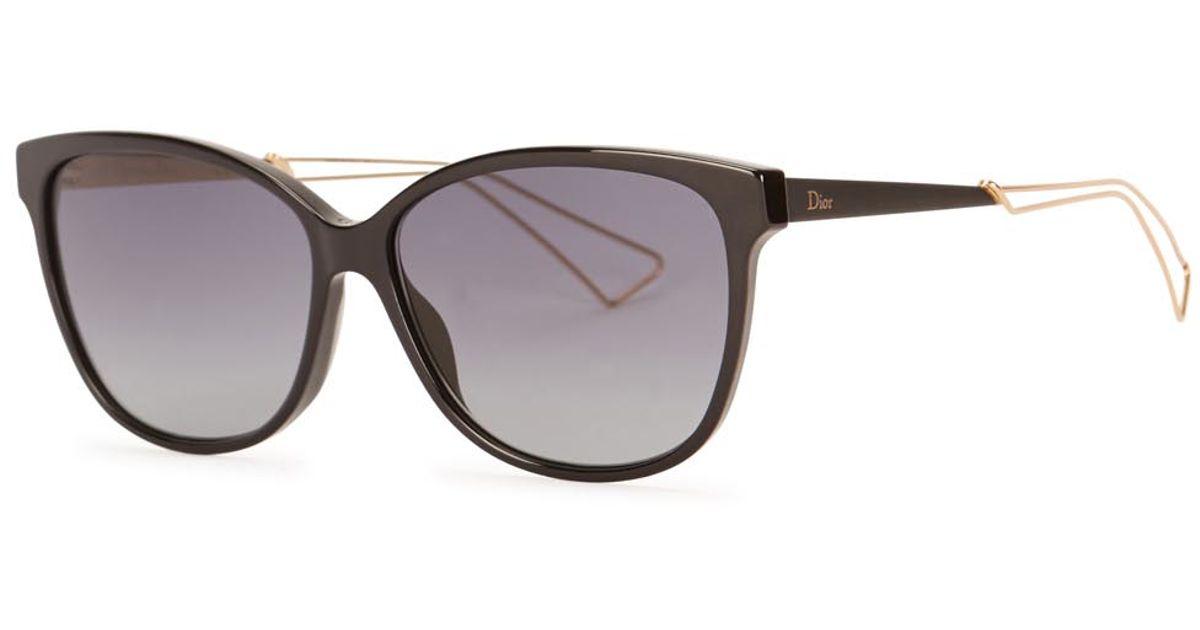 d52e0c703e2f3 Dior Dior Confident 2 Black Sunglasses in Black - Lyst