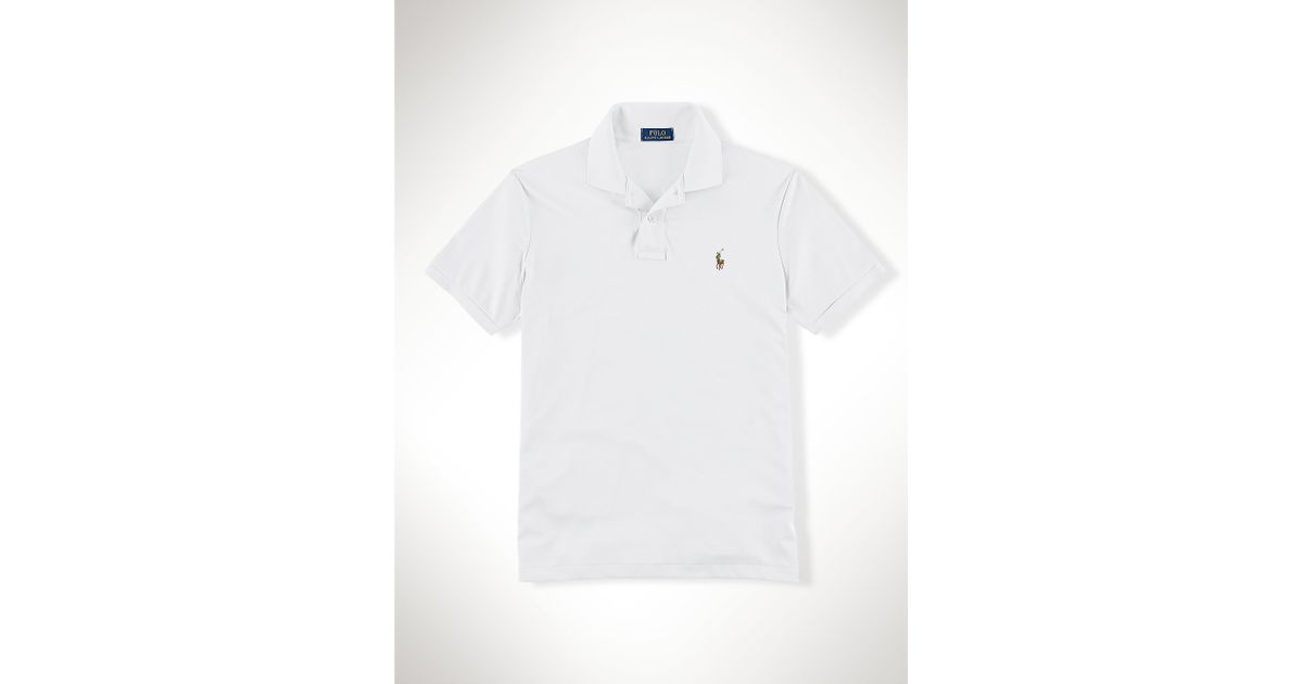 2fcc524b5 ... france lyst polo ralph lauren pima soft touch polo shirt in white for  men f3361 e2a9f