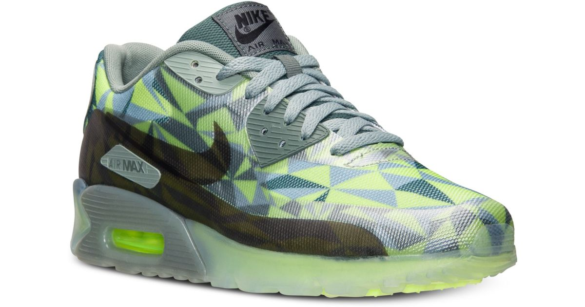 pretty nice ca46d 28327 cheap lyst nike mens air max 90 ice running sneakers from finish line in  green for