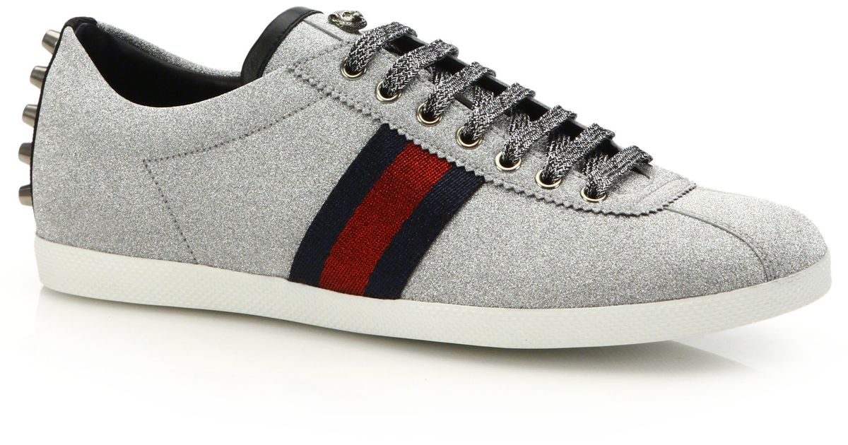 Gucci Sparkle Sneakers In Gray For Men Lyst