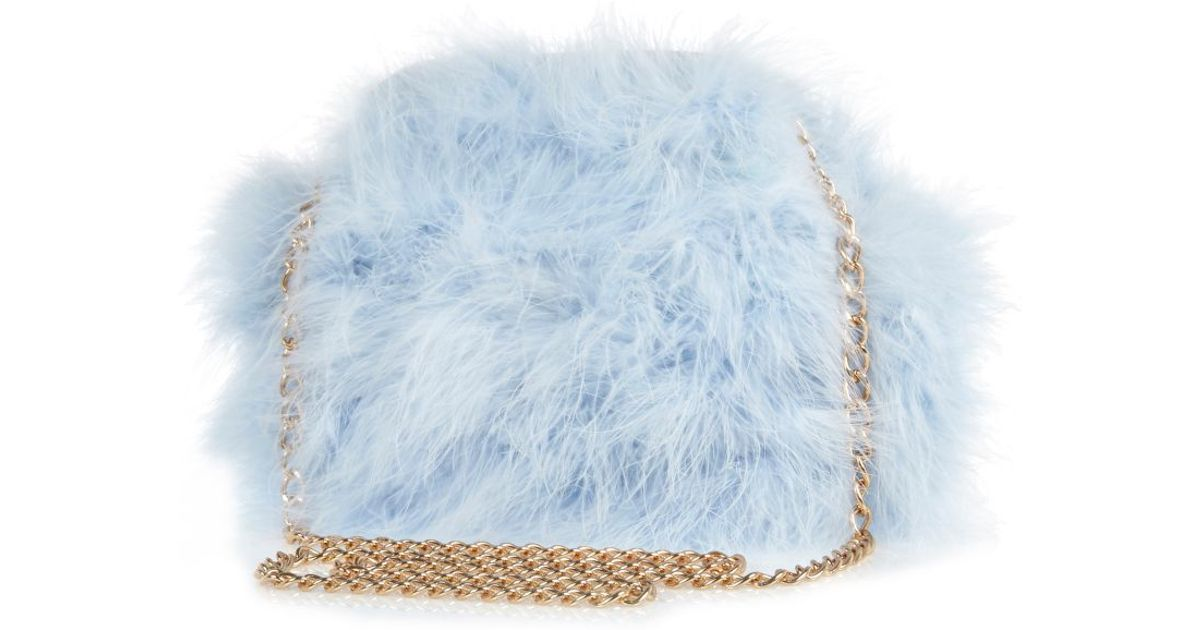 55c9ebc66 River Island Blue Fluffy Cross Body Bag in Blue - Lyst