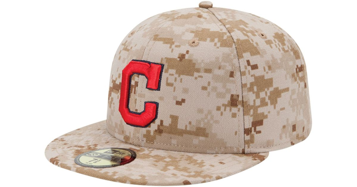 low priced 87829 512ab ... switzerland lyst ktz cleveland indians mlb memorial day stars stripes  59fifty cap in natural for men