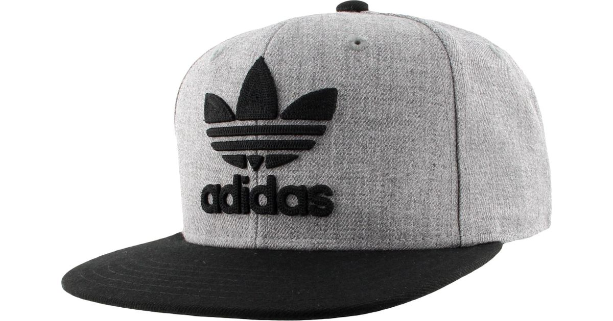 7d268bb2c340a adidas Originals Trefoil Chain Snapback Hat in Gray for Men - Lyst