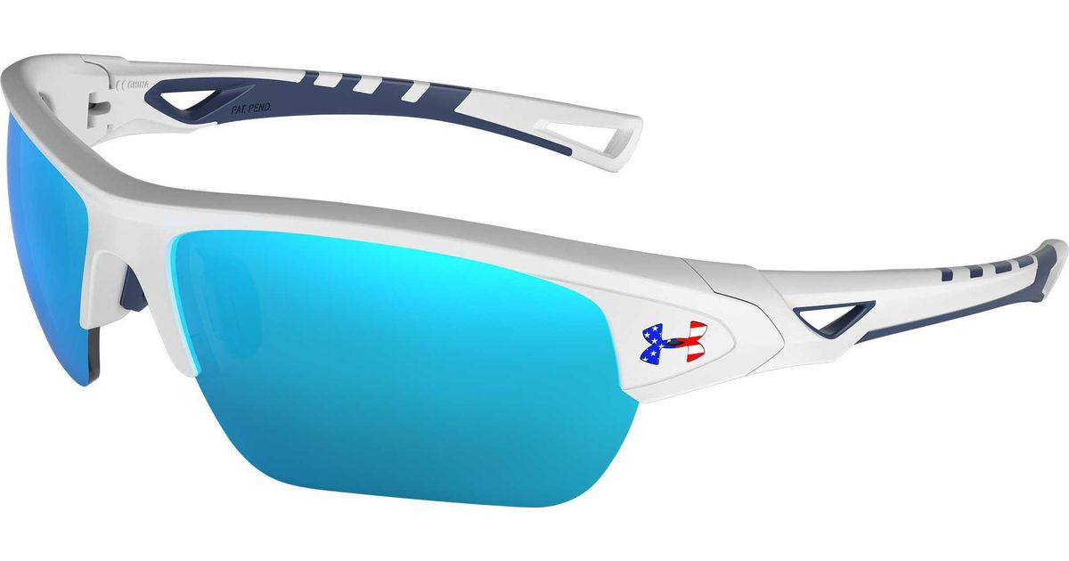 da02a78606 Lyst - Under Armour Youth Menace Tuned Baseball softball Sunglasses in Blue  for Men
