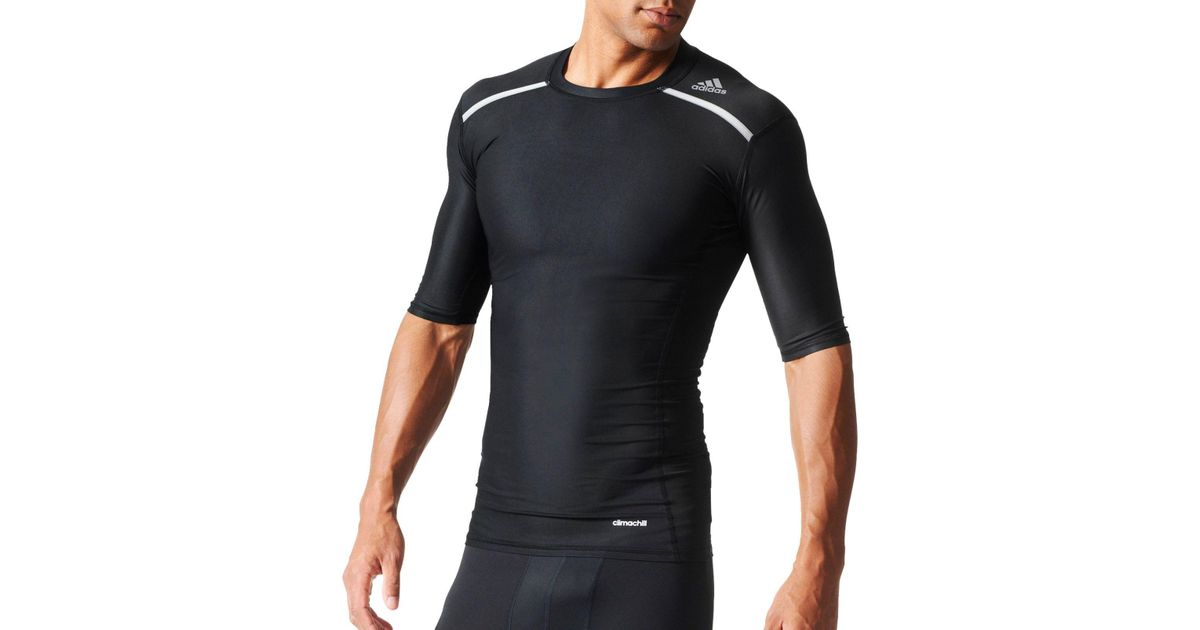 Adidas Shirt Lyst T For Chill Black Men Techfit Compression hCsQtdr