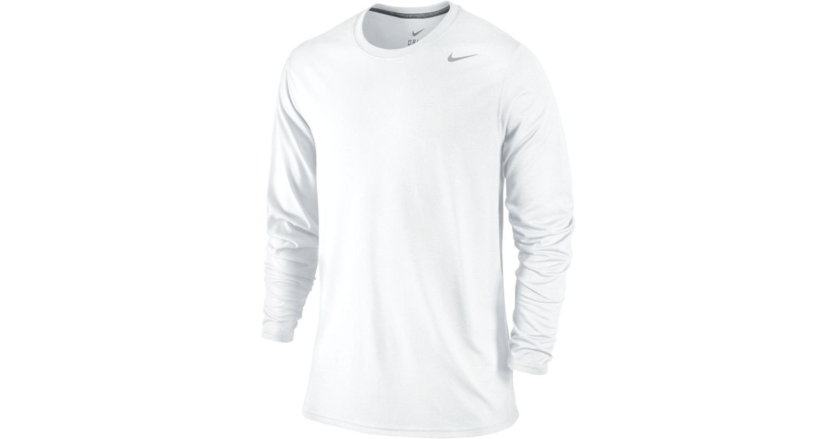 9549344a Lyst - Nike Long Sleeve Legend T-shirt in White for Men
