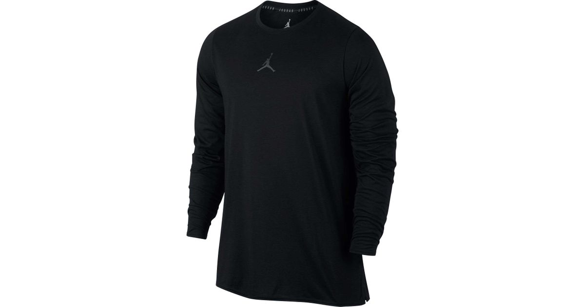 47dd59a43a05 Nike Jordan 23 Alpha Long Sleeve Shirt in Black for Men - Lyst