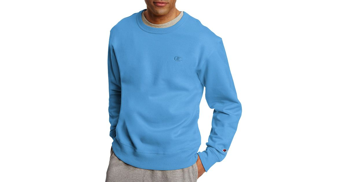 91fabd8071be Lyst - Champion Powerblend Fleece Crewneck Sweatshirt in Blue for Men