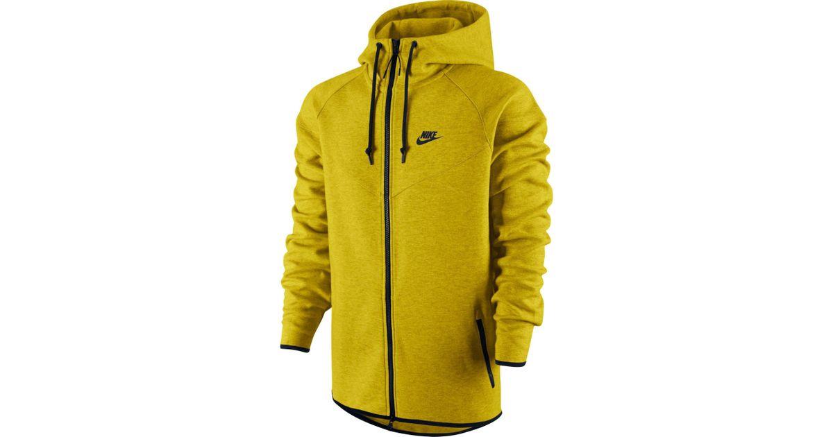 23f3fbc242 Lyst - Nike Tech Fleece Windrunner Full Zip Running Jacket in Yellow for Men