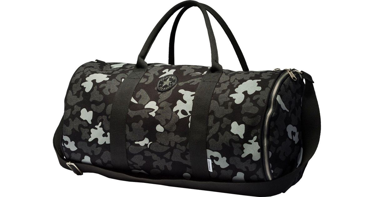 Lyst - Converse Core Canvas Camo Duffle Bag in Black for Men ed4af94a0ac35