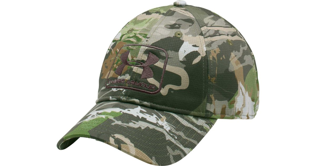 90da347b9bd Lyst - Under Armour Camo Stretch Fit Hat in Green for Men