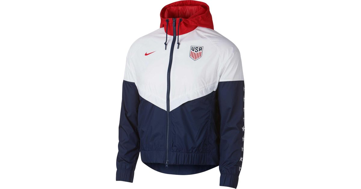 meet 2a205 642b7 Nike Olympic Windrunner Jacket in Blue - Lyst
