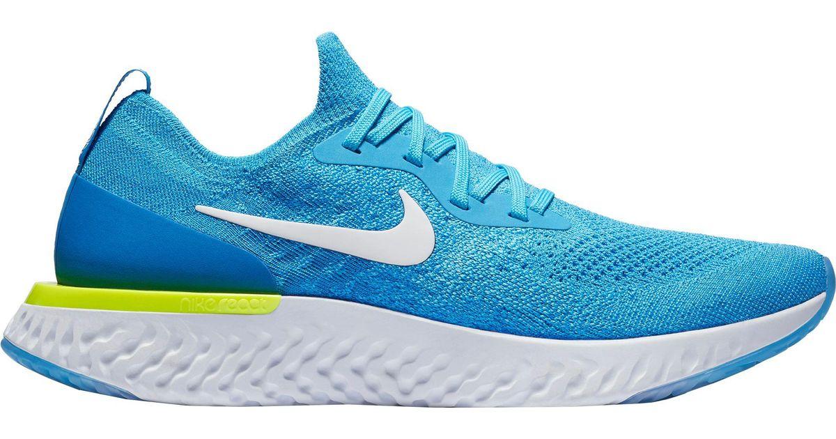 9ec980b8637c Lyst - Nike  s Epic React Flyknit Running Shoes in Blue for Men