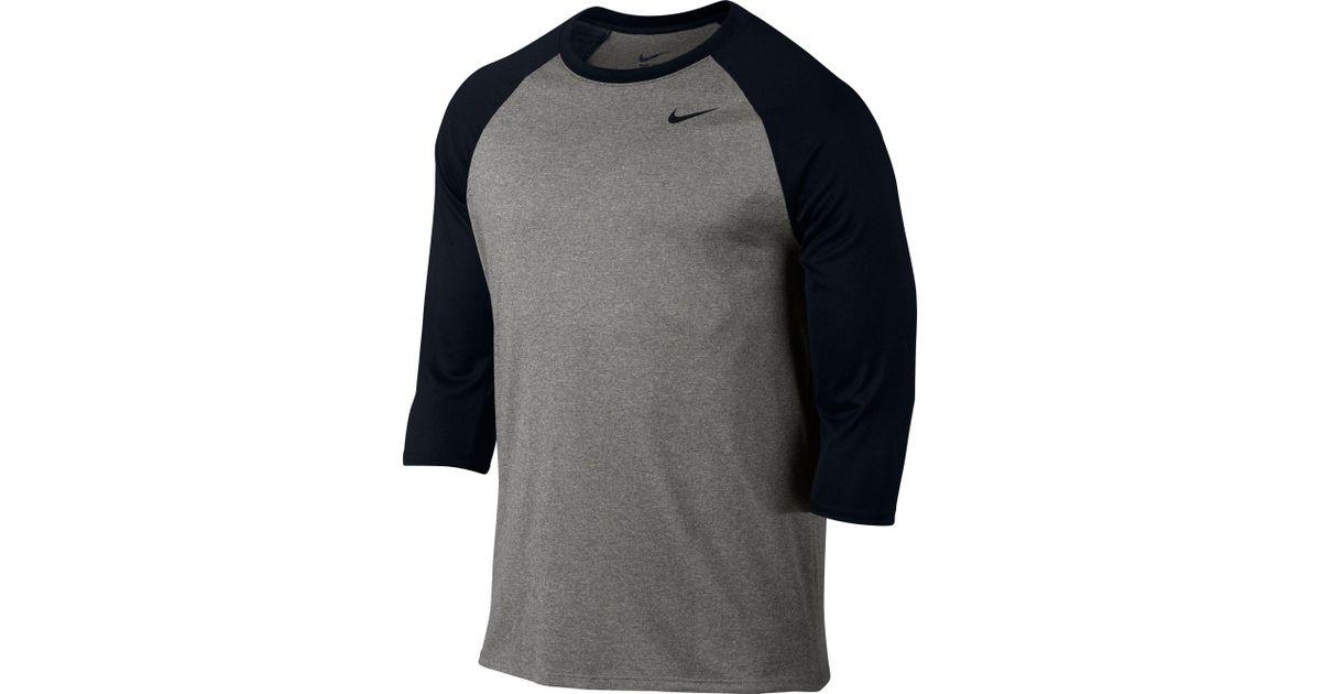 Lyst Nike Legend Raglan Three Quarter Length Sleeve