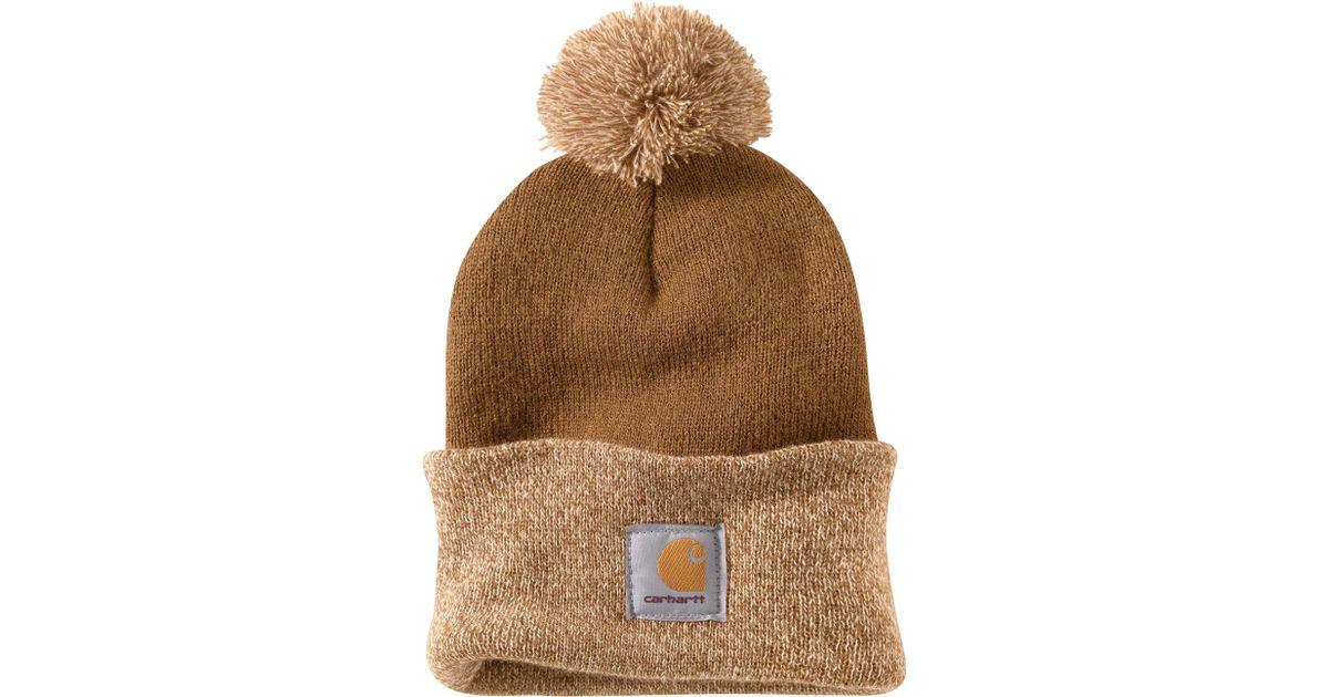 Lyst - Carhartt Lookout Pom Pom Hat in Brown ecd442516c2
