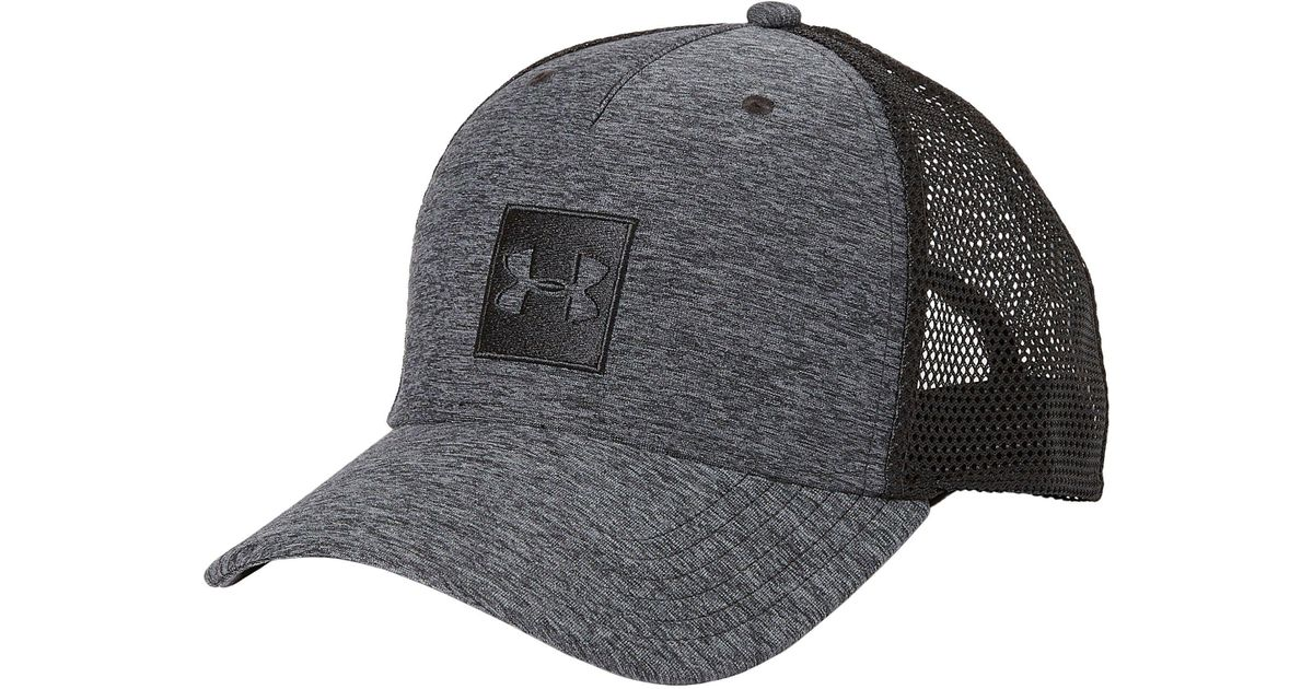 8055174cb3c ... low cost lyst under armour twist print pro trucker hat in black for men  5294b 73297 ...