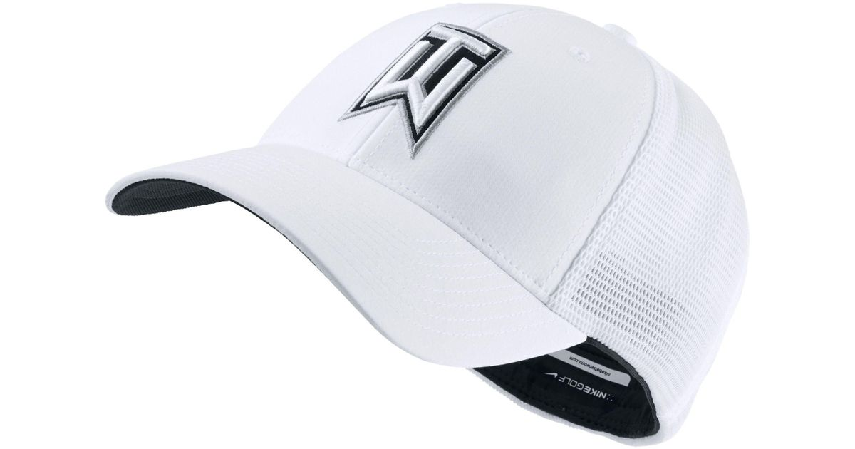 Lyst - Nike Tiger Woods Legacy91 Tour Mesh Golf Hat in White for Men 1658b915cf0