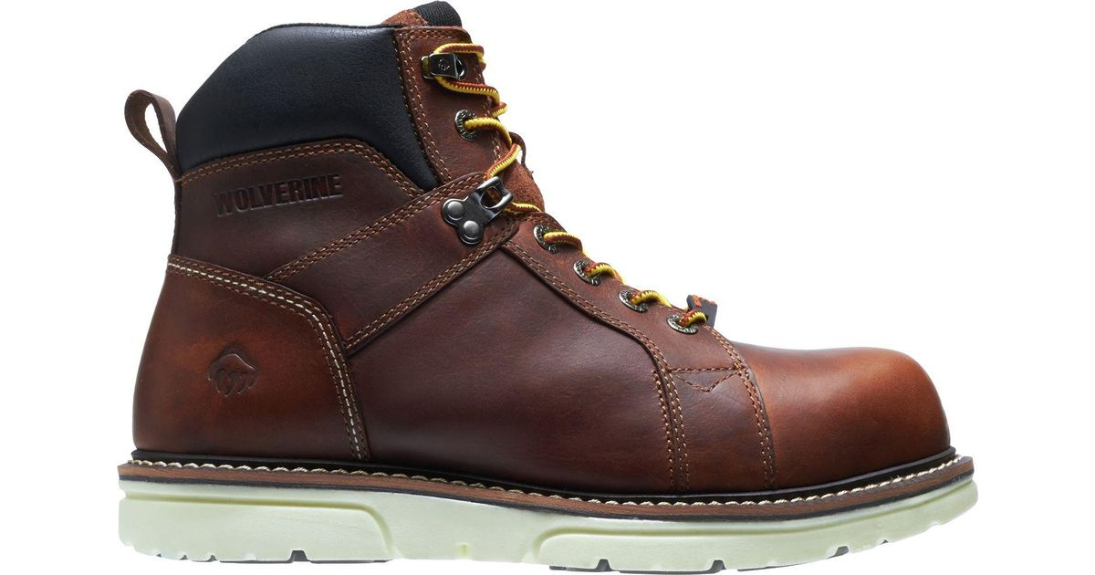e0684d4835f Wolverine - Brown I-90 Durashocks Wedge 6'' Work Boots for Men - Lyst