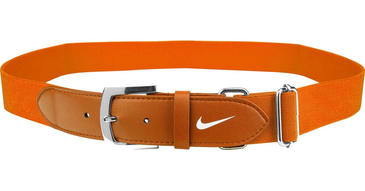 58567f5fe12844 Nike Youth Leather Baseball Belt in Orange for Men - Lyst